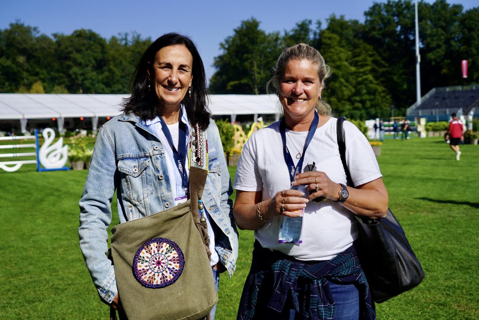 Veronique Philippaerts und Elisabeth Gulliksen freuen sich über den Erfolg ihrer Kinder